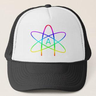 Casquette Symbole d'athée d'arc-en-ciel