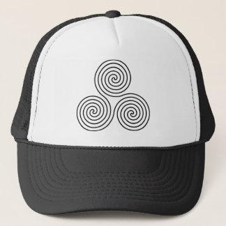 Casquette Symbole en spirale triple