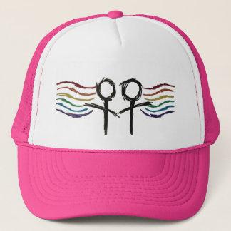 Casquette Symbole lesbien de femelle de fierté