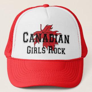 Casquette T-shirt canadien de roche de filles