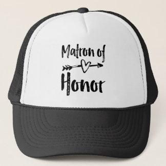 Casquette T-shirt de dame de honneur