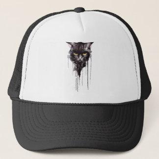 Casquette T-shirt fâché de chat