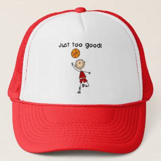 Casquette T-shirts et cadeaux trop bons de basket-ball juste