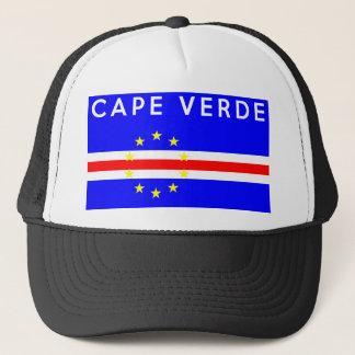 Casquette texte de nom de symbole de drapeau de pays du Cap