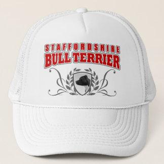 Casquette Texte de rouge de COA de bull-terrier du