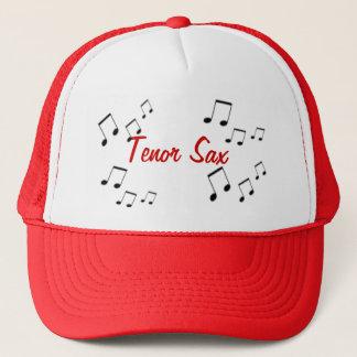 Casquette - texte d'instrument de musique en rouge