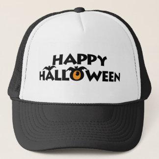 Casquette Texte heureux éffrayant de Halloween avec des