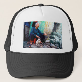 Casquette The Woman and Cat the