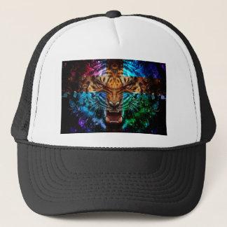 Casquette Tigre croisé - tigre fâché - visage de tigre - le