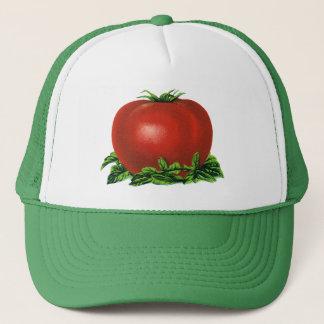 Casquette Tomate mûre rouge vintage, légumes et fruits
