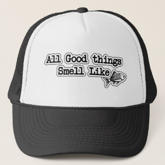 Casquette Toutes les bonnes choses sentent comme la pêche