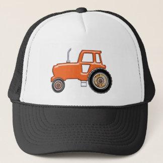 Casquette Tracteur orange brillant