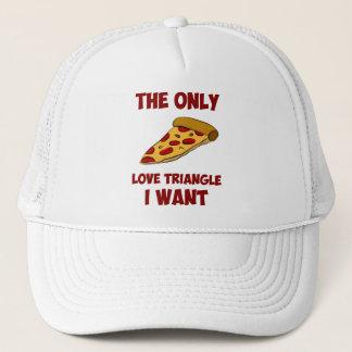 Casquette Tranche de pizza - le seul triangle amoureux que