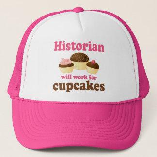 Casquette Travail drôle pour l'historien de petits gâteaux