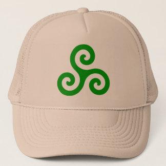 Casquette Triskele en spirale vert