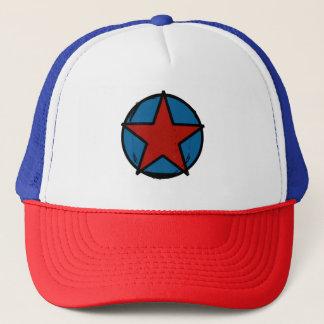 Casquette Trucker, bleu blanc rouge, logo Red Star