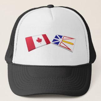 Casquette Tuiles de drapeau du Canada et de la Terre-Neuve