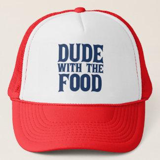 Casquette Type avec le bleu de nourriture