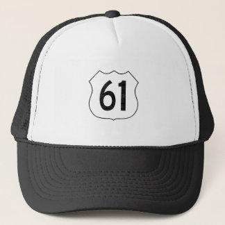 Casquette U.S. Signe d'itinéraire de la route 61