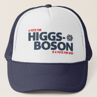 Casquette Un vote pour le Higgs-Boson est un vote pour Dieu
