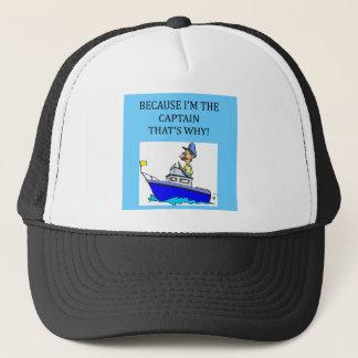 Casquette une plaisanterie drôle de capitaine de canotage