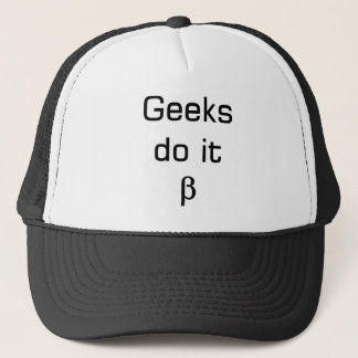 Casquette usage de geek