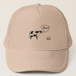Casquette Vache à l'hamburger