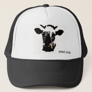 Casquette Vache animale inside