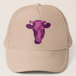 Casquette Vache rose et pourpre à art de bruit