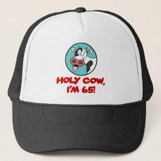 Casquette Vache sainte j'ai 65 ans