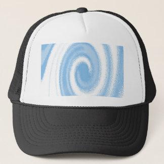Casquette Vague en spirale graphique bleue et blanche de