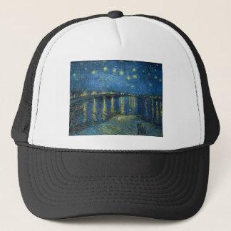 Casquette Van Gogh : Nuit étoilée au-dessus du Rhône