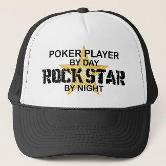 Casquette Vedette du rock de joueur de poker par nuit