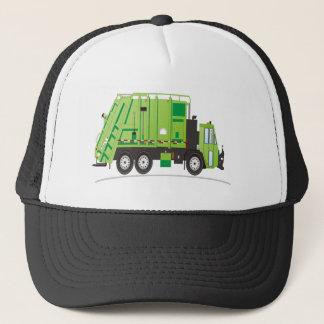 Casquette Vert de camion à ordures