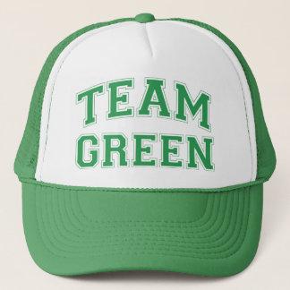 Casquette vert d'équipe