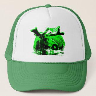 Casquette vert d'orignaux
