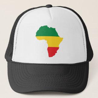 Casquette Vert, or et drapeau rouge de l'Afrique
