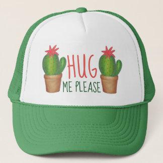 Casquette Veuillez m'étreindre cactus mis en pot épineux