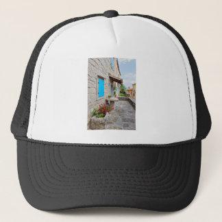 Casquette Ville de vieille vue pavée en cailloutis de rue de