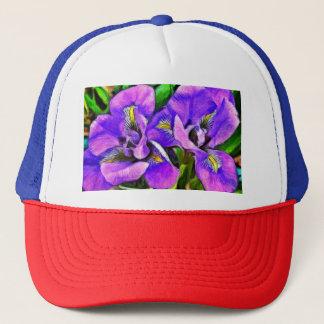 Casquette Violette de couleur d'iris