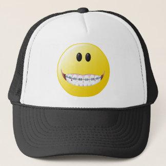 Casquette Visage de smiley de croisillons