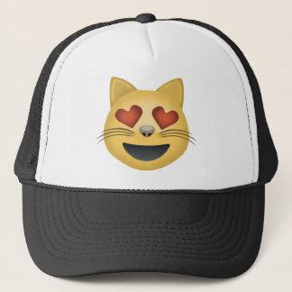 Casquette Visage de sourire de chat avec les yeux en forme