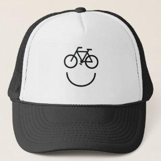 Casquette Visage de vélo, smiley de bicyclette