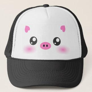 Casquette Visage mignon de porc - minimalisme de kawaii