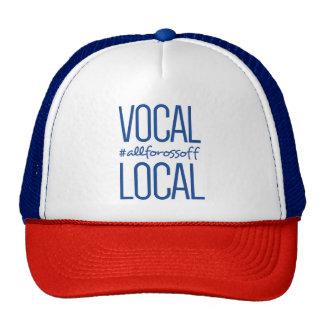 Casquette vocal et local de camionneur