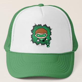 Casquette Vol vert de lanterne de Chibi par l'espace