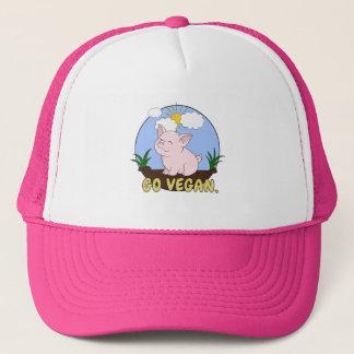 Casquette Vont le végétalien - porc mignon