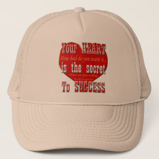 Casquette Votre coeur est le secret au succès