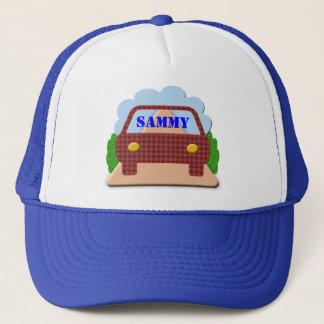 Casquette Votre nom dans le fenêtre-casquette de voiture