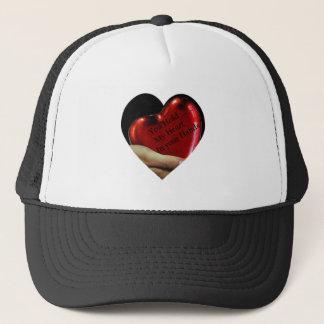 Casquette Vous tenez mon coeur dans votre valentine de mains